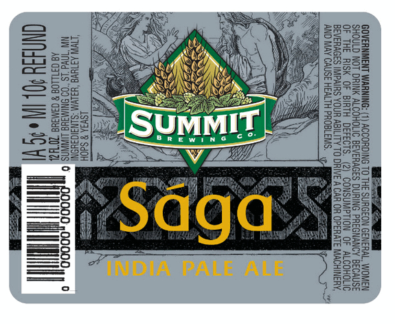 Summit Saga label PREVIEW: Summit Brewings Sága IPA